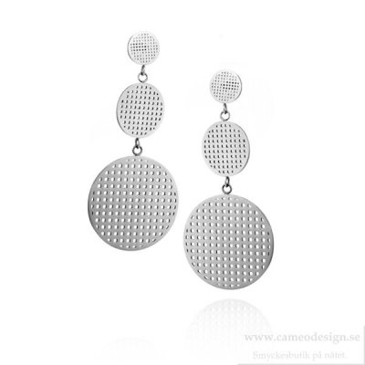 Ingnell Jewellery - Harper Earrings Double Steel