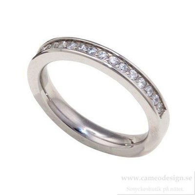 INGNELL JEWELLERY - LINA RING ALLIANCE STEEL/CLEAR