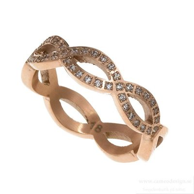 INGNELL JEWELLERY - INFINITY RING ROSE GOLD