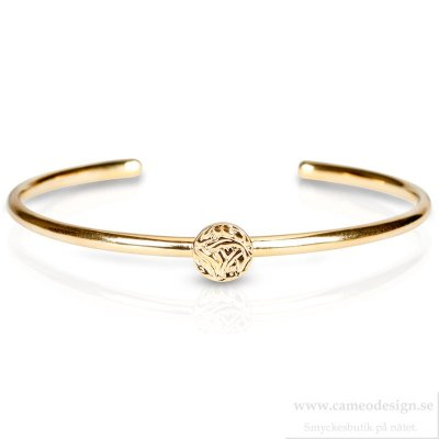 Shieldmaid - Armband Guldpläterat Mini Shield Bangle