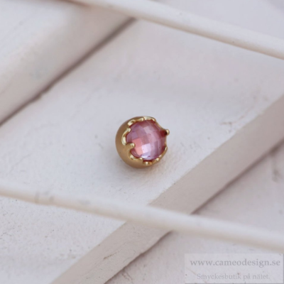 Altavario - Blush Bezel Prong Stone 6mm Bronze