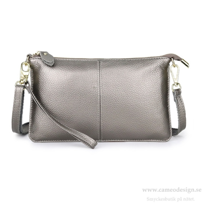Just d´lux - Clutch Leather Silver